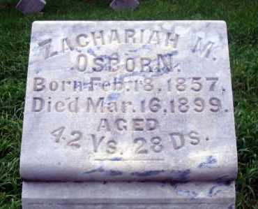 OSBORN, ZACHARIAH M. - Madison County, Nebraska | ZACHARIAH M. OSBORN - Nebraska Gravestone Photos