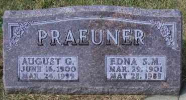 PRAEUNER, AUGUST G. - Madison County, Nebraska | AUGUST G. PRAEUNER - Nebraska Gravestone Photos