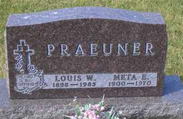 PRAEUNER, META E. - Madison County, Nebraska | META E. PRAEUNER - Nebraska Gravestone Photos