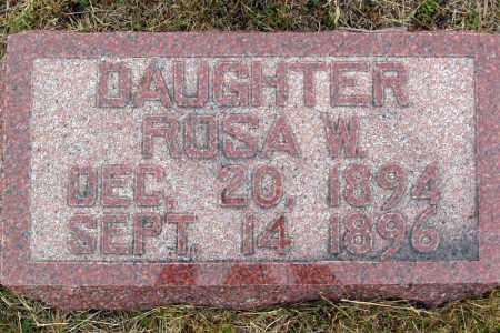 PRAEUNER, ROSA W - Madison County, Nebraska | ROSA W PRAEUNER - Nebraska Gravestone Photos