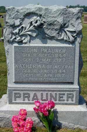 PRAUNER, JOHN - Madison County, Nebraska | JOHN PRAUNER - Nebraska Gravestone Photos