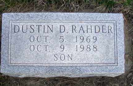 RAHDER, DUSTIN D. - Madison County, Nebraska   DUSTIN D. RAHDER - Nebraska Gravestone Photos