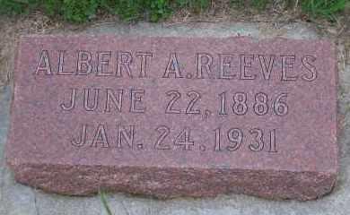 REEVES, ALBERT A - Madison County, Nebraska | ALBERT A REEVES - Nebraska Gravestone Photos