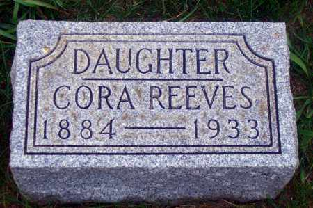 REEVES, CORA - Madison County, Nebraska | CORA REEVES - Nebraska Gravestone Photos