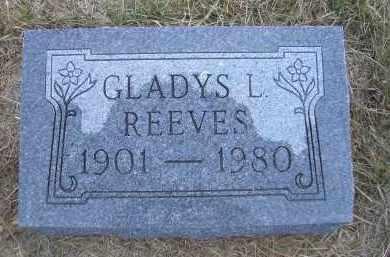 REEVES, GLADYS L. - Madison County, Nebraska | GLADYS L. REEVES - Nebraska Gravestone Photos
