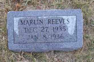 REEVES, MARLIN - Madison County, Nebraska | MARLIN REEVES - Nebraska Gravestone Photos