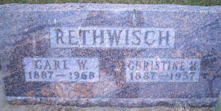RETHWISCH, CHRISTINE M - Madison County, Nebraska | CHRISTINE M RETHWISCH - Nebraska Gravestone Photos