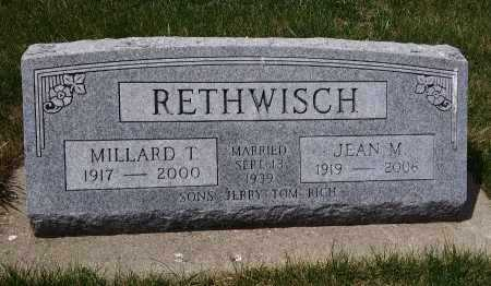RETHWISCH, MILLARD T - Madison County, Nebraska   MILLARD T RETHWISCH - Nebraska Gravestone Photos