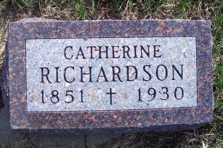 RICHARDSON, CATHERRINE - Madison County, Nebraska | CATHERRINE RICHARDSON - Nebraska Gravestone Photos