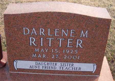 RITTER, DARLENE M - Madison County, Nebraska | DARLENE M RITTER - Nebraska Gravestone Photos