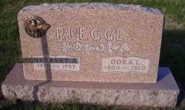 RUEGGE, HERBERT A. - Madison County, Nebraska | HERBERT A. RUEGGE - Nebraska Gravestone Photos