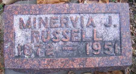 RUSSELL, MINERVIA J - Madison County, Nebraska | MINERVIA J RUSSELL - Nebraska Gravestone Photos