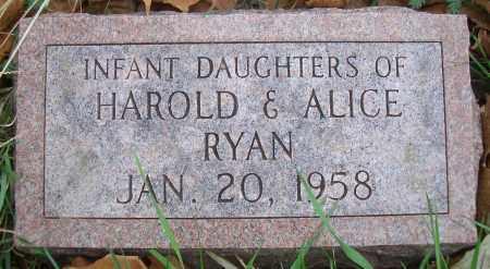 RYAN, INFANT DAUGHTERS - Madison County, Nebraska | INFANT DAUGHTERS RYAN - Nebraska Gravestone Photos