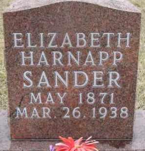 HARNAPP SANDER, ELIZABETH - Madison County, Nebraska | ELIZABETH HARNAPP SANDER - Nebraska Gravestone Photos