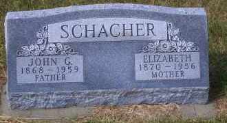 SCHACHER, JOHN G. - Madison County, Nebraska | JOHN G. SCHACHER - Nebraska Gravestone Photos
