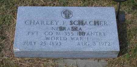 SCHAECHER, CHARLEY F. - Madison County, Nebraska | CHARLEY F. SCHAECHER - Nebraska Gravestone Photos