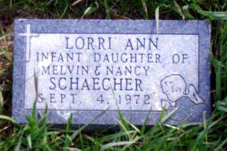 SCHAECHER, LORRI ANN - Madison County, Nebraska | LORRI ANN SCHAECHER - Nebraska Gravestone Photos
