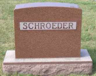 SCHROEDER, FAMILY MARKER - Madison County, Nebraska | FAMILY MARKER SCHROEDER - Nebraska Gravestone Photos
