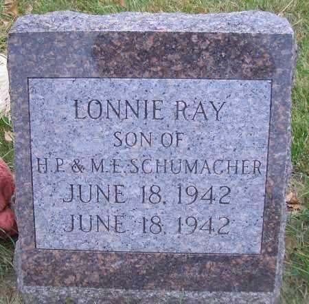 SCHUMACHER, LONNIE RAY - Madison County, Nebraska | LONNIE RAY SCHUMACHER - Nebraska Gravestone Photos
