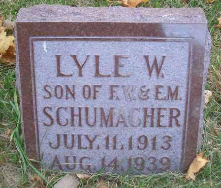 SCHUMACHER, LYLE W - Madison County, Nebraska | LYLE W SCHUMACHER - Nebraska Gravestone Photos
