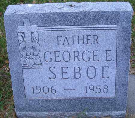 SEBOE, GEORGE E - Madison County, Nebraska | GEORGE E SEBOE - Nebraska Gravestone Photos