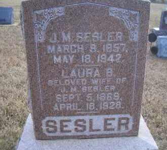 SESLER, J. M. - Madison County, Nebraska | J. M. SESLER - Nebraska Gravestone Photos