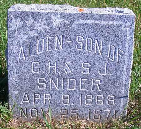 SNIDER, ALDEN - Madison County, Nebraska | ALDEN SNIDER - Nebraska Gravestone Photos