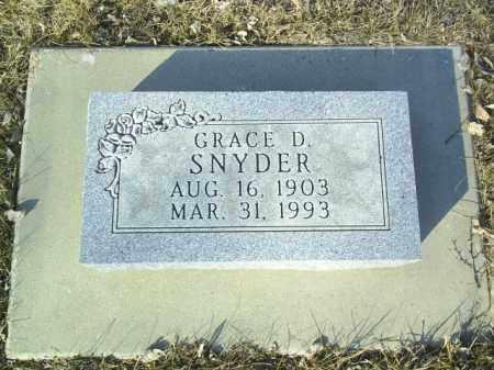 SNYDER, GRACE - Madison County, Nebraska | GRACE SNYDER - Nebraska Gravestone Photos