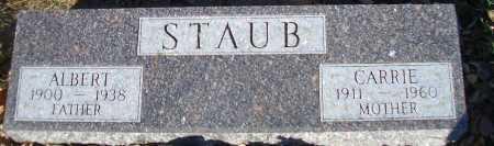 STAUB, ALBERT - Madison County, Nebraska   ALBERT STAUB - Nebraska Gravestone Photos