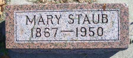 SCHAR STAUB, MARY - Madison County, Nebraska | MARY SCHAR STAUB - Nebraska Gravestone Photos