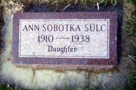 SULC, ANN - Madison County, Nebraska | ANN SULC - Nebraska Gravestone Photos