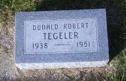 TEGELER, DONALD ROBERT - Madison County, Nebraska   DONALD ROBERT TEGELER - Nebraska Gravestone Photos