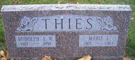 THIES, MARIE L - Madison County, Nebraska | MARIE L THIES - Nebraska Gravestone Photos