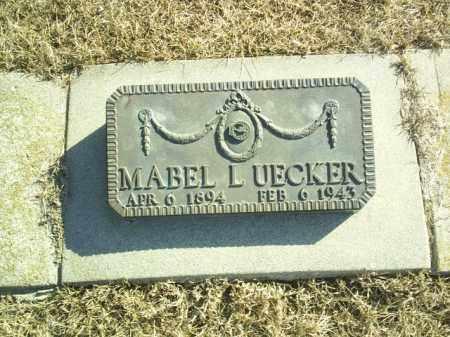 UECKER, MABEL - Madison County, Nebraska | MABEL UECKER - Nebraska Gravestone Photos