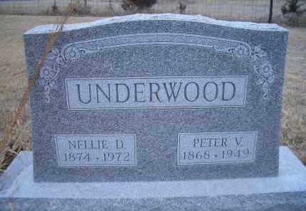 UNDERWOOD, PETER V. - Madison County, Nebraska   PETER V. UNDERWOOD - Nebraska Gravestone Photos
