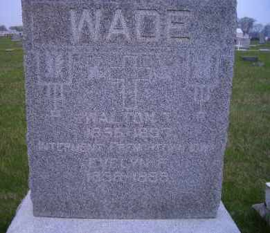 WADE, EVELYN F. - Madison County, Nebraska | EVELYN F. WADE - Nebraska Gravestone Photos