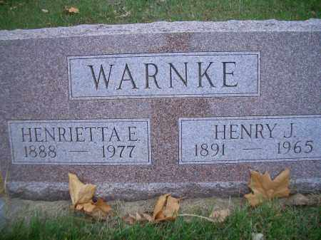 WARNKE, HENRY J - Madison County, Nebraska | HENRY J WARNKE - Nebraska Gravestone Photos