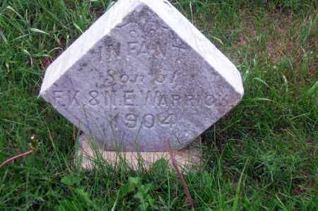 WARRICK, INFANT SON - Madison County, Nebraska | INFANT SON WARRICK - Nebraska Gravestone Photos