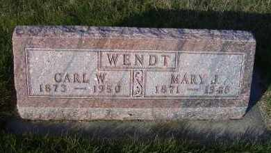 WENDT, MARY J. - Madison County, Nebraska | MARY J. WENDT - Nebraska Gravestone Photos