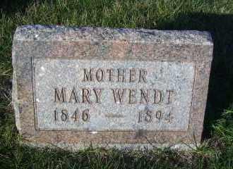 WENDT, MARY - Madison County, Nebraska | MARY WENDT - Nebraska Gravestone Photos
