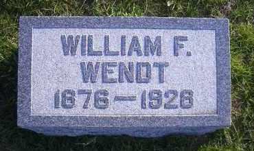 WENDT, WILLIAM F. - Madison County, Nebraska | WILLIAM F. WENDT - Nebraska Gravestone Photos