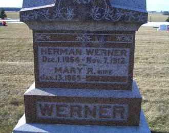 WERNER, MARY R. - Madison County, Nebraska | MARY R. WERNER - Nebraska Gravestone Photos