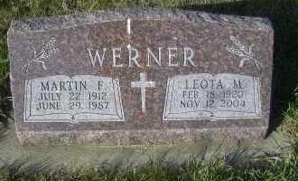 WERNER, MARTIN F. - Madison County, Nebraska | MARTIN F. WERNER - Nebraska Gravestone Photos