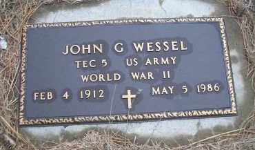 WESSEL, JOHN G. (MILITARY) - Madison County, Nebraska | JOHN G. (MILITARY) WESSEL - Nebraska Gravestone Photos