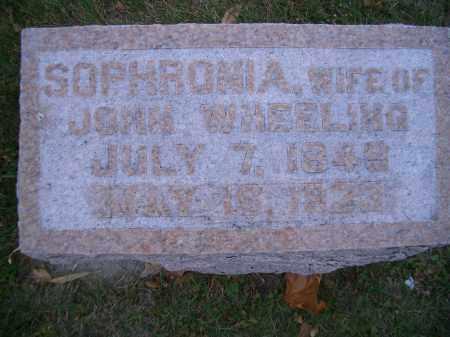 WHEELING, SOPHRONIA - Madison County, Nebraska | SOPHRONIA WHEELING - Nebraska Gravestone Photos