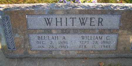 WHITWER, BEULAH A - Madison County, Nebraska | BEULAH A WHITWER - Nebraska Gravestone Photos