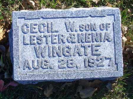 WINGATE, CECIL W - Madison County, Nebraska   CECIL W WINGATE - Nebraska Gravestone Photos
