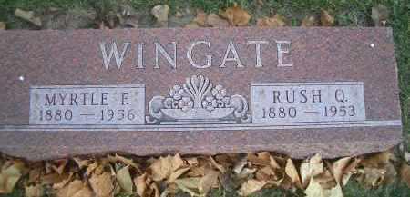WINGATE, RUSH Q - Madison County, Nebraska | RUSH Q WINGATE - Nebraska Gravestone Photos