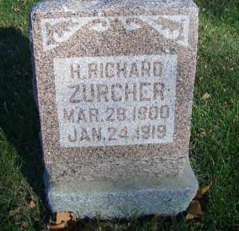 ZURCHER, H RICHARD - Madison County, Nebraska   H RICHARD ZURCHER - Nebraska Gravestone Photos