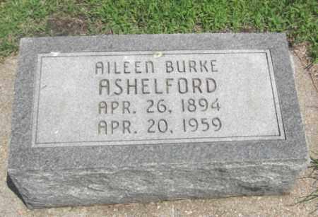 ASHELFORD, AILEEN BURKE - Merrick County, Nebraska | AILEEN BURKE ASHELFORD - Nebraska Gravestone Photos